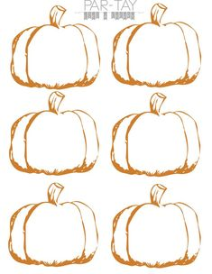 pumpkin tags free printable- use as place settings or napkin rings for your thanksgiving feast Pumpkin Printable, Templates Printable Free, Free Printables, Printable Party, Thanksgiving Place Cards, Thanksgiving Feast, Thanksgiving Celebration, Halloween Tags, Halloween Photos