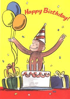 Enjoyable 12 Best Curious George Birthday Cards Images Curious Personalised Birthday Cards Veneteletsinfo