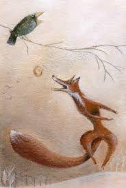La volpe e corvo - Chi gode di essere lodato con parole ingannatrici prima o poi si pente.