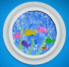 Paper plate fish bowl doodle paper plate fish bowl craft use for dr seuss week one sc 1 st about of crafts Paper Plate Fish, Paper Plate Crafts, Paper Plates, Fishbowl Craft, Aquarium Craft, Ocean Crafts, Fish Crafts, Daycare Crafts, Classroom Crafts