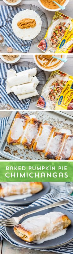 Thanksgiving's favorite dessert just got an upgrade! These Baked Pumpkin Pie Chimichangas from @beckygallhardin are the perfect sweet treat to steal the show on this year's Thanksgiving table or dinne (Favorite Desserts)