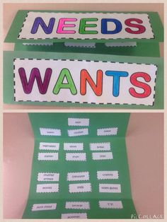 This foldable will help students learn the difference between wants and needs!