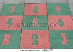 Floor with numbers - stock photo