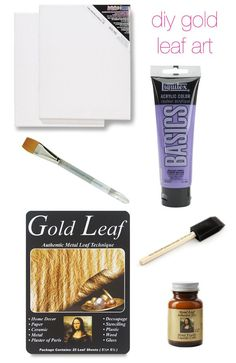 Glitter and Goat Cheese - DIY gold leaf art supplies
