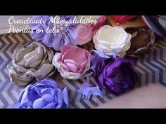 FLORES DE TELA/PEONIA/ FABRIC FLOWERS/MANUALIDADES/TUTORIALES/CREACTIVATE MANUALIDADES - YouTube