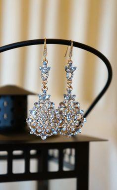 Wedding Jewels Crystal Drop Earrings, Bridal Jewelry, Wedding Jewelry, Bridesmaids Earrings, Swarovski Earrings from Vintage Pinch