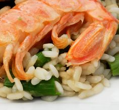 Asparagus and Prawn Risotto