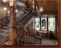 The Whitney, Woodward Avenue, Detroit, Michigan HS dance dinners Abandoned Houses, Old Houses, Abandoned Detroit, Abandoned Mansions, Abandoned Places, Grand Staircase, Stairs, Detroit History, Detroit Area