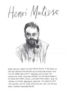 Henri Matisse desenho this isn't happiness. - Henri Matisse desenho this isn't happiness. Matisse Art, Henri Matisse, Art History Lessons, Art Lessons, Van Gogh, Newspaper Art, Paintings Famous, Most Famous Artists, Make Pictures