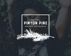 pinyon pine logo modern logo blog logo resume logo photography logo