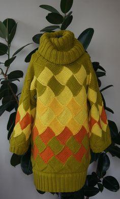 свитер многоцветный