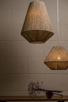 Rustic Lighting, Interior Lighting, Home Lighting, Rattan Lamp, Home Ceiling, Happy House, Diy Home Crafts, Lamp Shades, Light Decorations