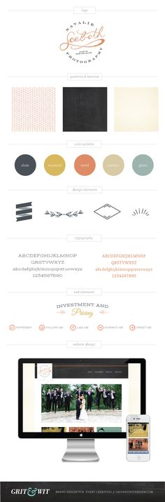 Natalie Seeboth Photography #branding style guide by Grit & Wit