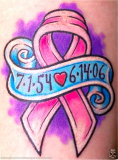 Tattoo Ideas: Breast Cancer Pink Awareness Ribbons