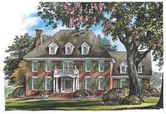 House Plan The Bradstreet by Donald A. Gardner Architects