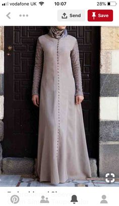 Embroidered Sleeves Gown Simply Taupe color You're going to fall head over hee., Embroidered Sleeves Gown Simply Taupe color You're going to fall head over hee. Embroidered Sleeves Gown Simply Taupe color You're going to fall. Muslim Dress, Hijab Dress, Hijab Outfit, Dress Outfits, Abaya Fashion, Muslim Fashion, Modest Fashion, Fashion Dresses, Abaya Designs