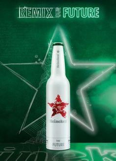 RUSZYŁ KONKURS HEINEKENA REMIX OUR FUTURE   Heineken już od 140 lat jest częścią stylu życia milionów ludzi na całym świecie. Z tej okazji, już po raz kolejny, historię marki możemy podziwiać na specjalnej limitowanej edycji butelek. Każda z nich przedstawia kluczowy moment w historii Heinekena. Jednak ta, która symbolizuje przyszłość, czeka na Twój projekt. Dzięki akcji Remix our Future, teraz Ty masz szansę wykreować butelkę przyszłości jednej z najbardziej rozpoznawanych marek świata.