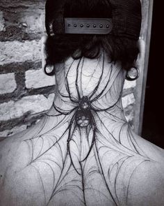 Crazy spider on the neck