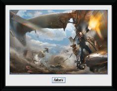 Fallout Poster im Rahmen Vertibird Door Gunner 30 x 40 cm