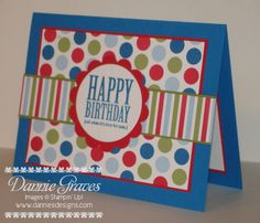 March Birthday Card by DannieGrvs - Cards and Paper Crafts at Splitcoaststampers