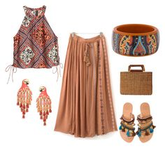 """Boho Fashion for Summer"" by thefashionfunda on Polyvore featuring Elina Linardaki, Salvatore Ferragamo, Kate Spade and Etro"