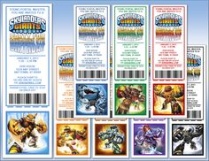 Skylanders Giants Party Invitations & Other Birthday Decorations UPrint w/Less Ink & Minimal Cutting - Print it Yourself PDFs - $5.99 or less - Easy, DIY & Save When UPrint™ at SkylandsAndBeyond.com