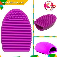The Brush Egg is used to help with the deep cleaning process of makeup brushes. The brush egg is made of hard silicone and fits snugly in the palm of your hand. Use this accessory to wash your brushes and get it clean all the way to the base of the hair. Swirl the wet and shampooed brush in circular movements over the ridges of the egg to get all products removed. You may also hook the base of the brush to the ridges and wiggle the brush to remove embedded dirt.