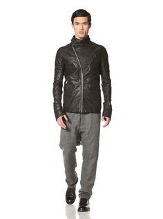 70% OFF Rick Owens Men's Leather Jacket (Black)