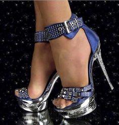 Coppy Leather Amazing Rhinstone Platform High Heel Sandals Stiletto Sandals