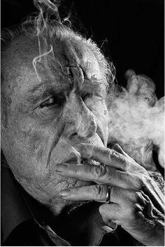 Charles Bukowski , 1991. Photo: Gottfried Helnwein. °