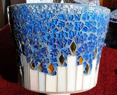 Blue pot with candles