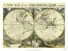 New Map Terra. Globe, Ox., 1700-01