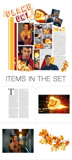 """""""Flame On!"""" by capfan2014 ❤ liked on Polyvore featuring art, humantorch and FlameOn"""