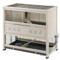 For the Guinea Pig (s) Ferplast Wooden Cottage - Indoor Rabbit Hutch - White 108 x 59 x 102.5 cm (L x W