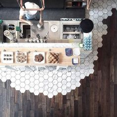 5 style-focused design trends to keep on your radar   #remodel #remodeling #countertops #kitchen #dreamhome #whites #colorschemes #colors #meltingtile #tilemelt #hexagontile #honeycombtile #honeycomb #tilemeetswood