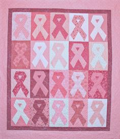 pink ribbon quilt can be any awareness color!