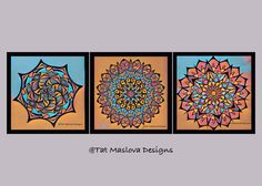 A personal favorite from my Etsy shop https://www.etsy.com/listing/489424698/colorful-mandala-wall-decoration-set-of