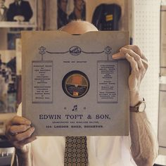 """julianwardphoto. """"This is George Ginn from 'The Record Album' in Brighton. On @recordstoreday Sat 18th April I'll be uploading a short film piece introducing George & his shop. Tune in to hear what he feels CDs are good for...!"""""""