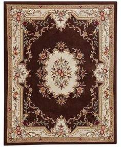 MANUFACTURER'S CLOSEOUT! Kenneth Mink Empress Aubusson Coffee 5' x 8' Area Rug