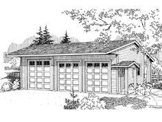 Three-Car Garage Plan, 051G-0034
