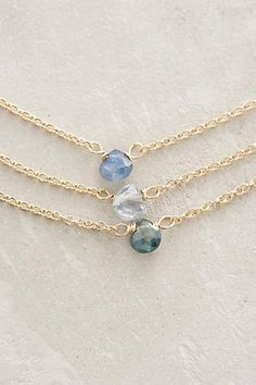 Sapphire Triplet Necklace - anthropologie.com