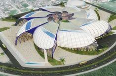 Projeto do estádio catarinão, do gonçalense (Foto: Divulgação)