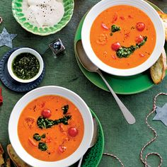 Recept - Tomatencr�mesoep - Allerhande