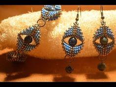 "Earrings Bead ""Eye of the queen."" Beading. class / Earrings Bead Master. Beading. - YouTube"