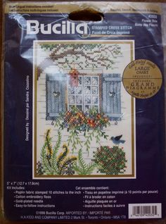 Bucilla/Flower Box/Stamped Cross Stitch/Size 5-by 7 Inches/ Embroidery Kit /42032 by BluetreeSewingStudio on Etsy