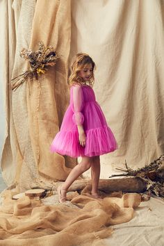 A collection of fresh, original and imaginative children's clothing By Fashion Designer Nelly Chen Dresses Kids Girl, Kids Outfits, Flower Girl Dresses, Sheer Dress, Tulle Dress, Little Girl Fashion, Kids Fashion, Bridesmaid Dresses, Wedding Dresses