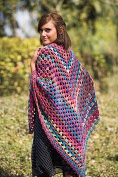 $2.99 pattern- Hippie Chick Crochet Shawl - Knitting Patterns and Crochet Patterns from KnitPicks.com