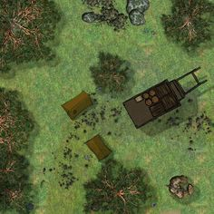 2 generic forest maps and a camp with wagon - Album on Imgur