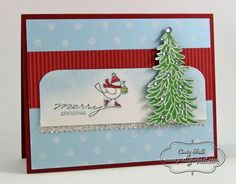 """For-the-Birds-Christmas **** Also used SU """"Evergreen"""", 2012 Holiday Mini."""