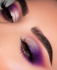 makeup tutorial mac eyeshadow vs makeup revolution makeup quotes to blend makeup eyeshadow makeup demo to eyeshadow makeup for brown eyes eyeshadow makeup look eyeshadow makeup video Makeup Eye Looks, Purple Eye Makeup, Eye Makeup Art, Colorful Eye Makeup, Glam Makeup, Pretty Makeup, Makeup Inspo, Eyeshadow Makeup, Makeup Ideas